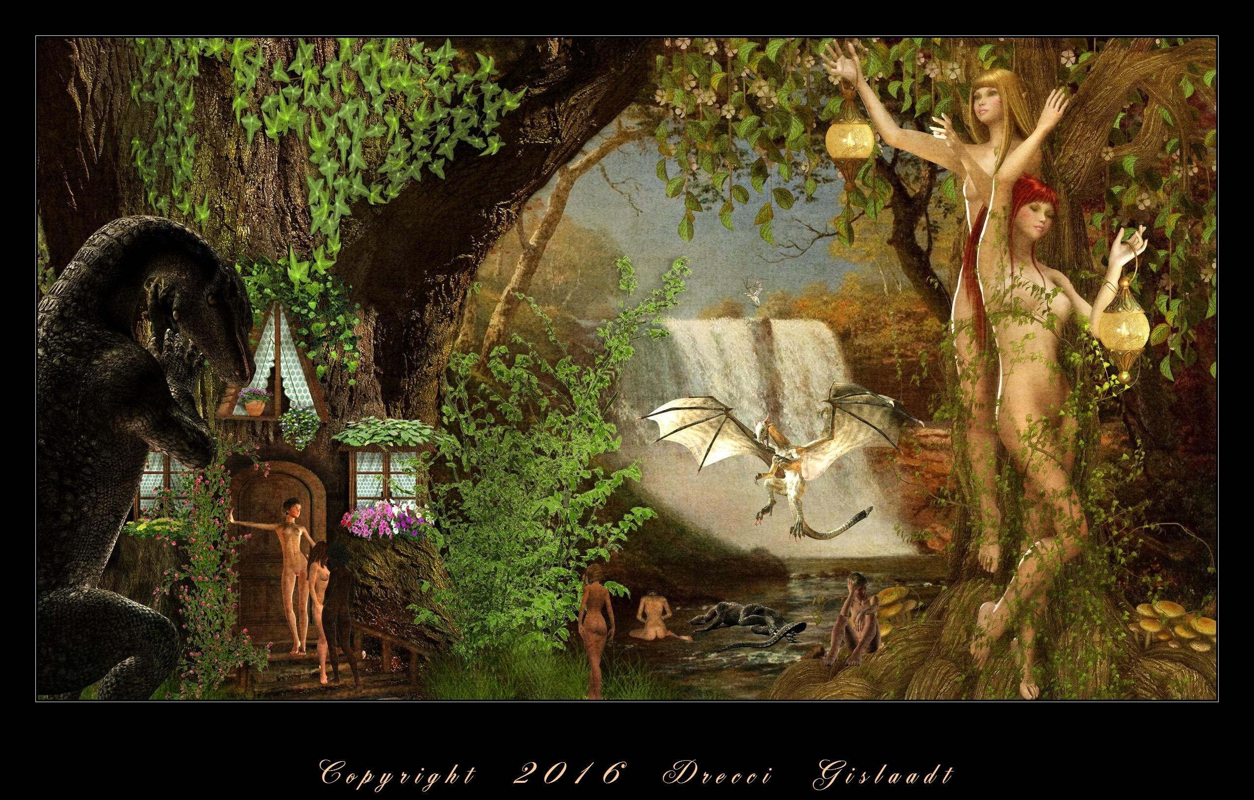 Les meliades au jardin des hesprides couleur by gislaadt for Au jardin des couleurs