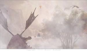 Le lac aux dragons pourpres