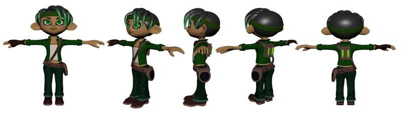 Octoling Jade 3D Model by Sssonicsnivy