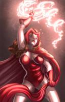 Scarlet Witch  scarlet hex by VascoSobral