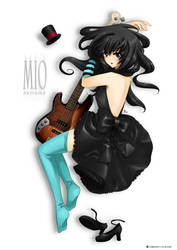 Mio and her guitar by linlilian