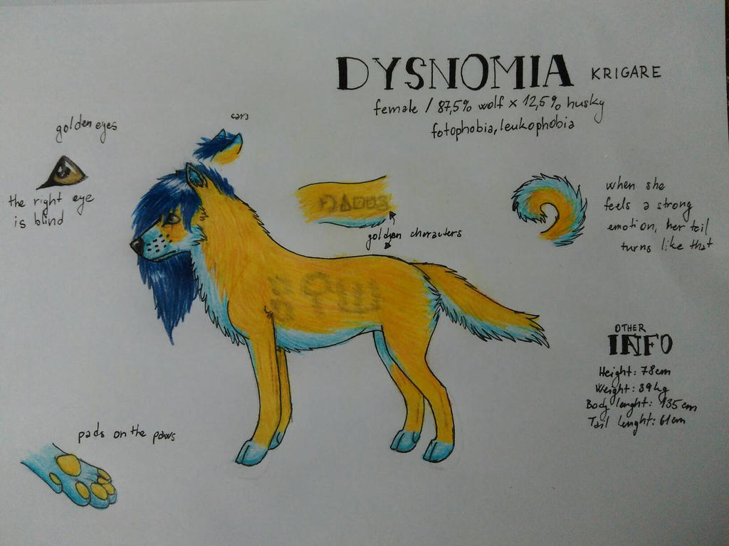 Character Sheet - Dysnomia Krigare by LittleStar-Lavaris on