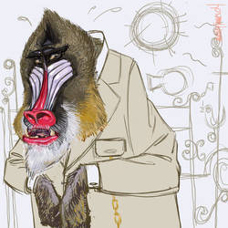 Parisienne Mandrill by mutleyjames
