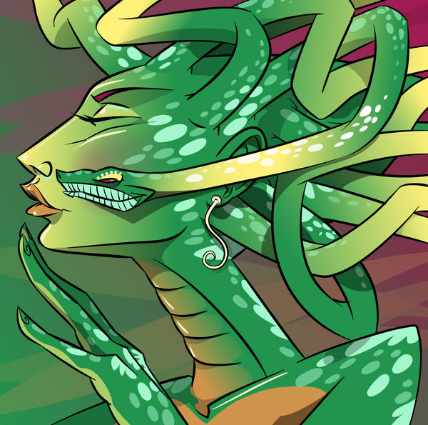 Medusa kiss by mutleyjames