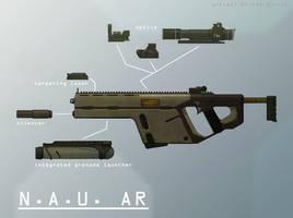 Weapons: N.A.U. Assault Rifle by Shockworkstudio