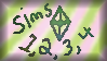 Sims 1, 2, 3, 4 Stamp by SkyPaint1