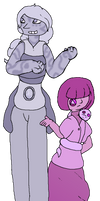 Purple Star Sapphire and Purple Pearl