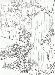 Landscape Lineart by Amashirotsuki