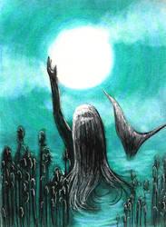 Moon and The Mermaid by Amashirotsuki