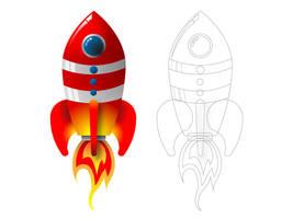 Vintage Rocket vector