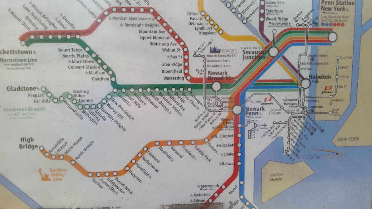 New Jersey Transit Map by Confused-Man on DeviantArt