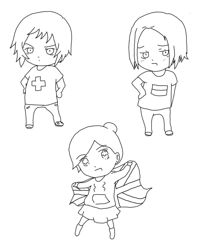hetalia coloring pages - chibi hetalia lineart by lenbe95 on deviantart