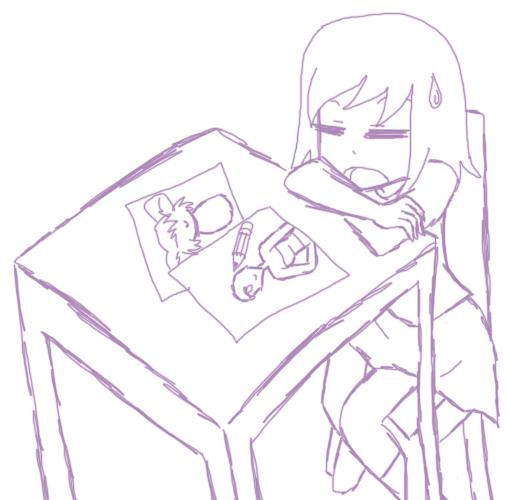 Sometimes I have art block by SashikuChan