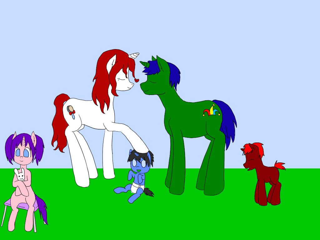 A Family Of Ponies by SashikuChan