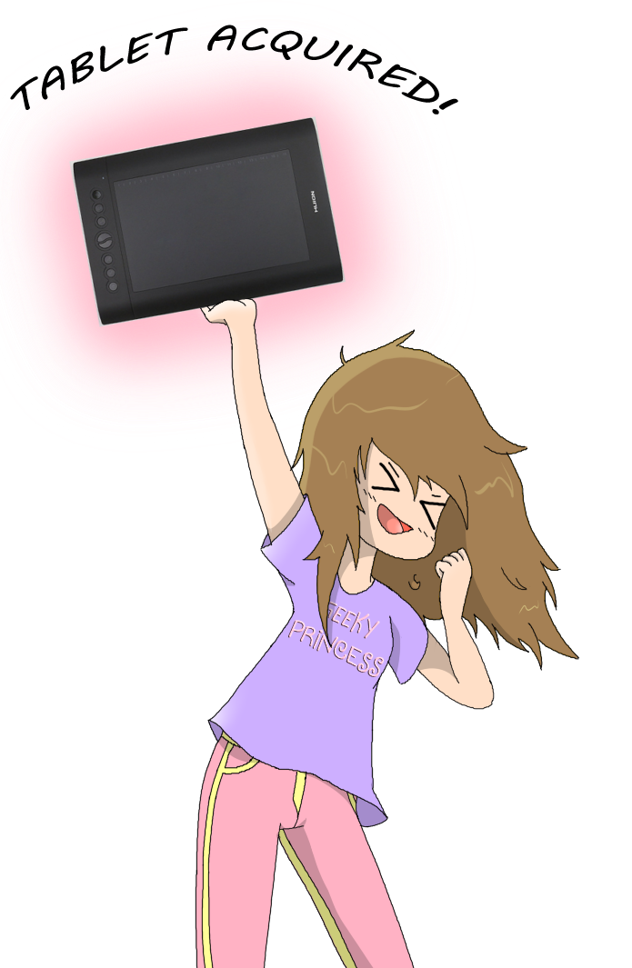 I GOT MY TABLET!!! by SashikuChan