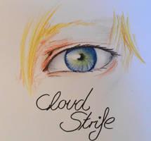 Mako eye - Cloud Strife by AkaiYuyake