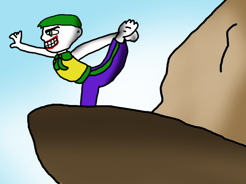 The Joker Doing Yoga on Pride Rock by pm58790