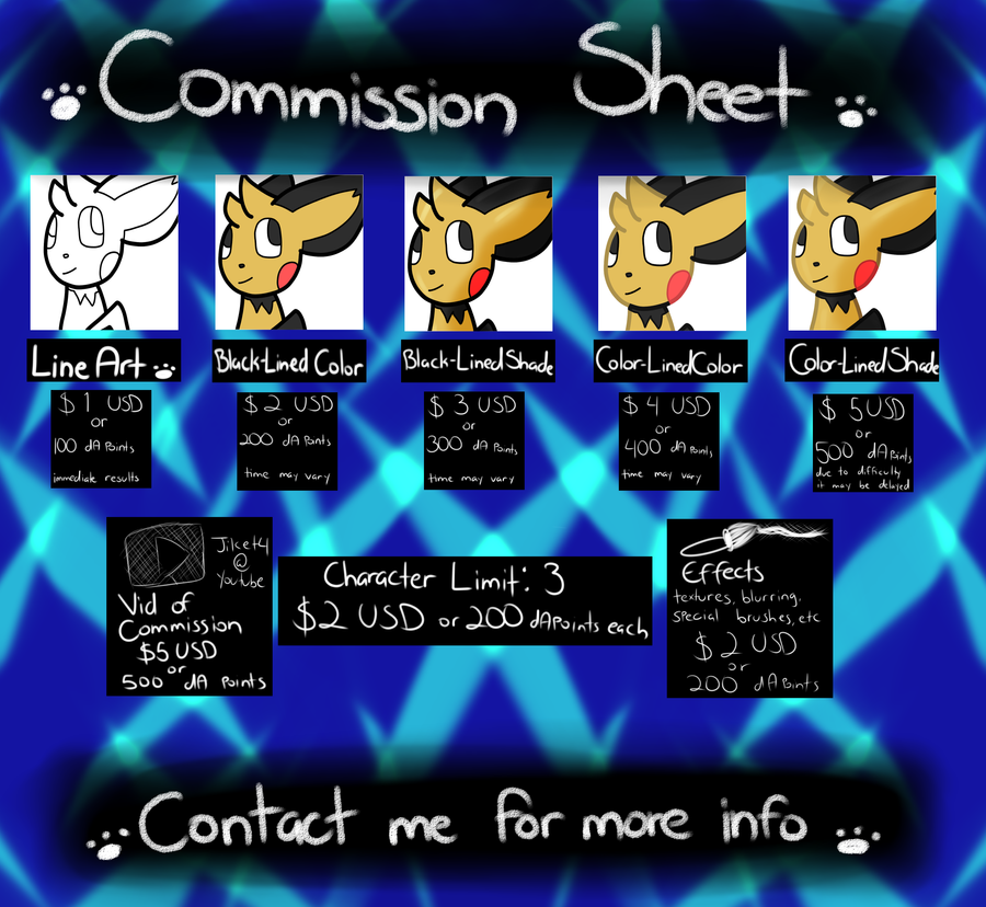 Commission Sheet by Tegan-the-Great