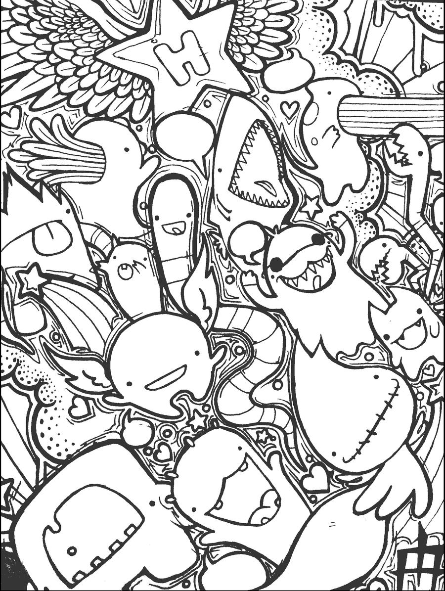 The Original Heart-Star Coloring Page by like-minded-ind ...