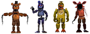 The Withered Animatronics but Swapped
