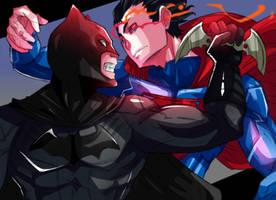 Batman y Superman by SiruBoom