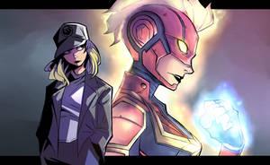 Captain Marvel fanart by SiruBoom