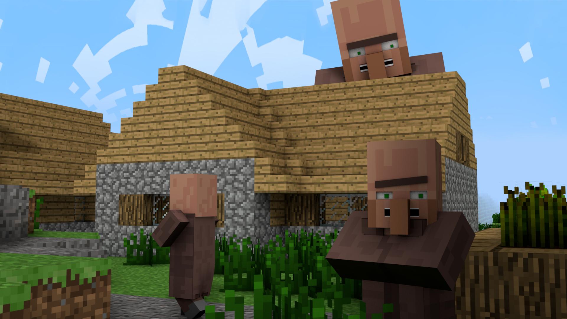 Minecraft Real Life Villager Minecraft - c4d - villageby