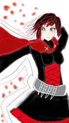 RWBY Ruby Rose Sketch by Spidernator9