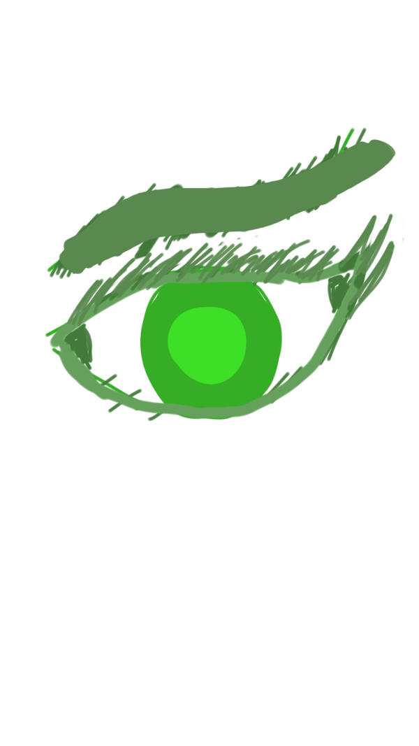 GREEN awful eyes by Spidernator9