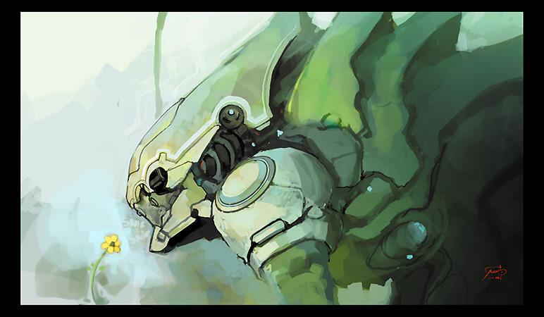 Monsieur Robot by Bluefley