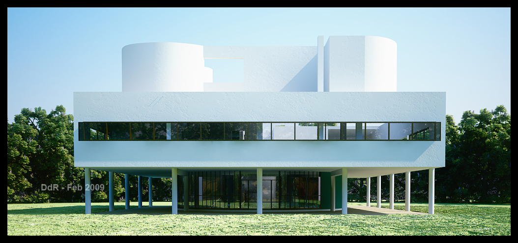 Villa savoye le corbusier by bambooblader on deviantart - La villa savoye le corbusier ...