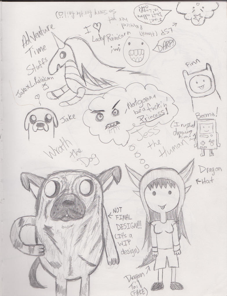 Adventure Time Sketch Dump 1 by Ayame-Hyuuga