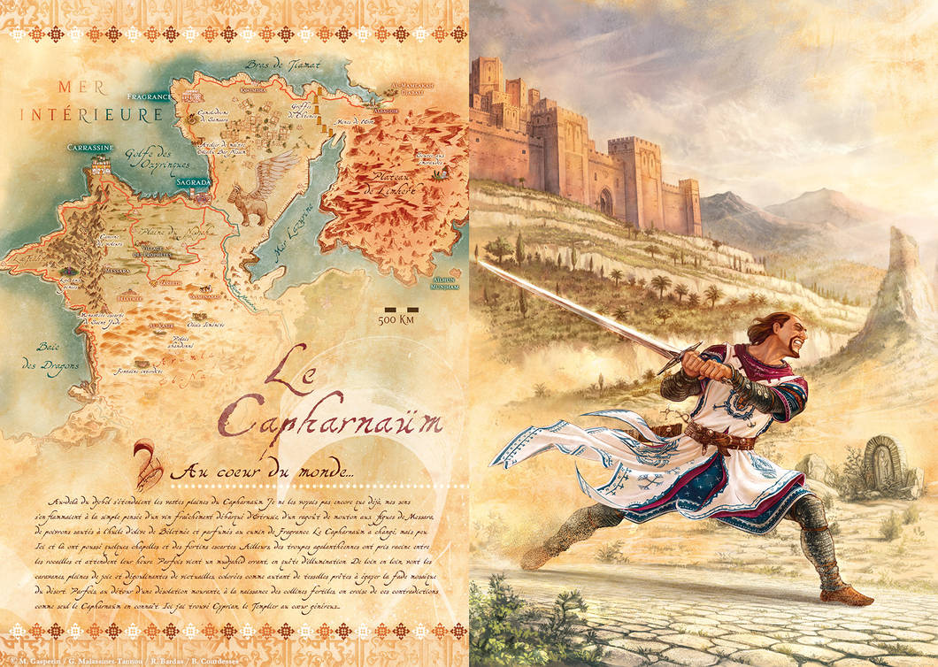 Cyprian the Templar and the Capharnaum (map)