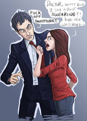 12th Doctor and Clara by ChrisIsDaName