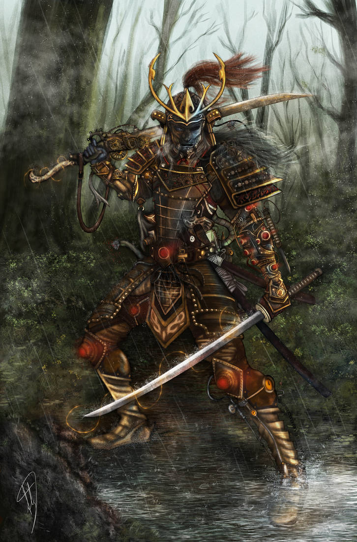 STEAMPUNK SAMURAI WARRIOR by CloudXtrife