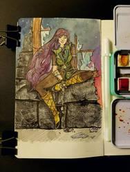 Character Study: Zraellyn (colour version)  by artiste-reveur