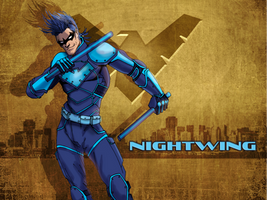 NIGHTWING DO-OVER by ZachSatherArt