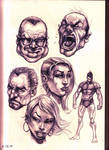 Faces practice sketching (zoom in)