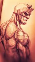 daredevil sketch  by ZachSatherArt