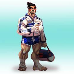 Street Fighter: Eddie Honda by ZachSatherArt