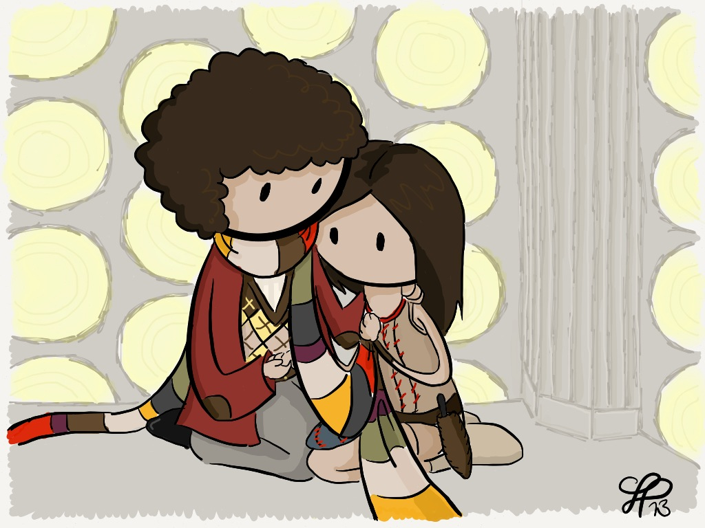 Leela and the Fourth Doctor by gnasler