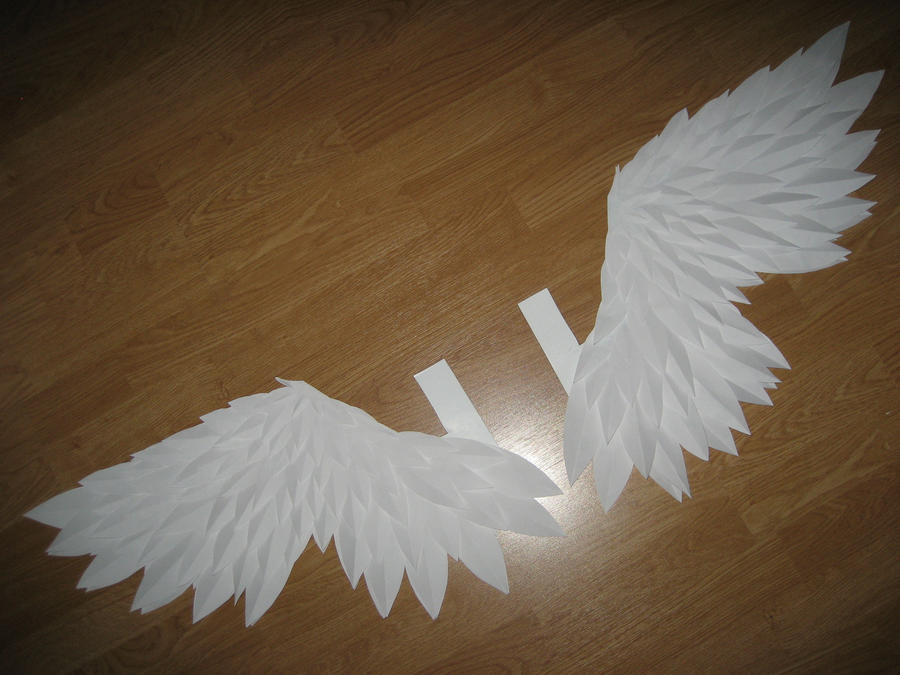 Как сделать крылья ангела с бумаги