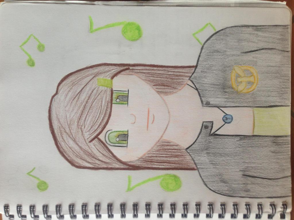 animethe hunger gamespercy jacksonmusic drawing by thaliapj katnissthg