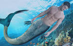 Merman underwater