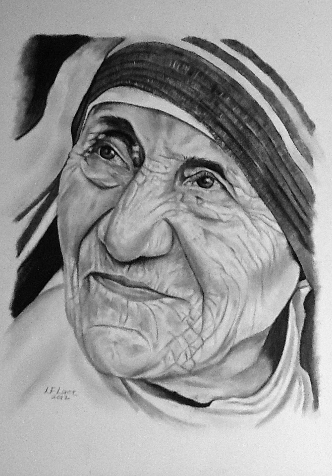 Mother teresa by the pencil lady