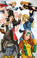 Women of DC and Marvel by Godsartist