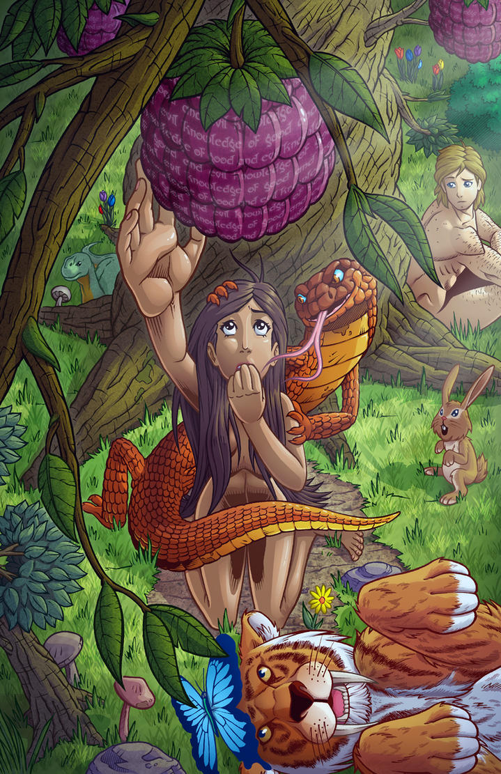 adam eve and the serpent by godsartist on deviantart