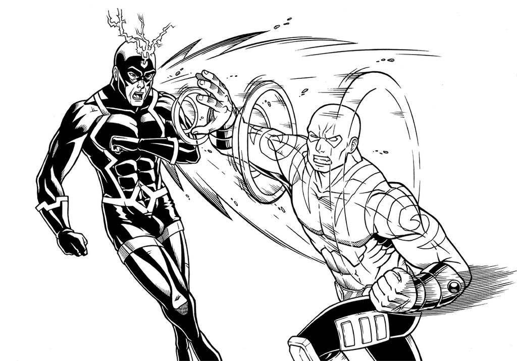 Drax and BlackBolt by Godsartist