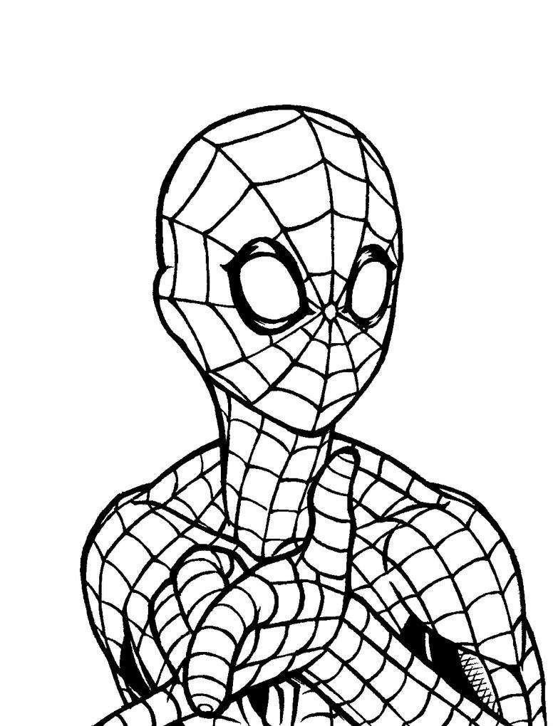 SpiderMan Inktober by Godsartist