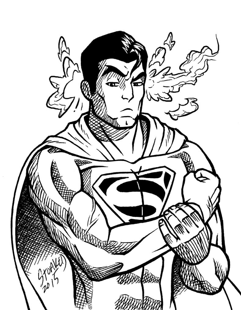 Supermanno Inktober by Godsartist
